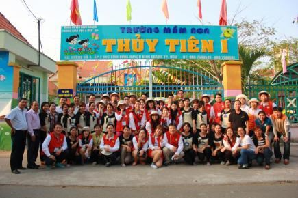 Eye Level School in Binh Chanh, Vietnam broke ground on March 13th.
